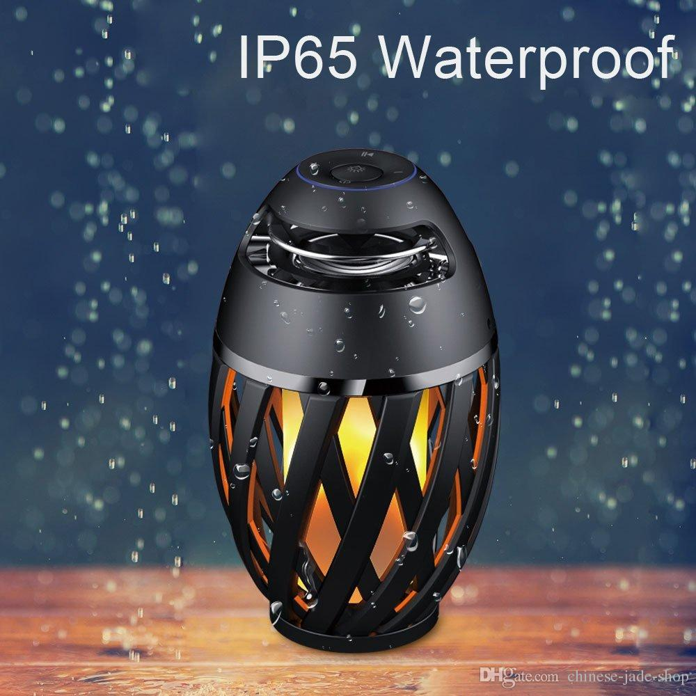 i3 Portable Flame Atmosphere LED wireless bluetooth speaker BT4.0 IP65 Waterproof Outdoor HD Audio Bass for iPhone Android phone