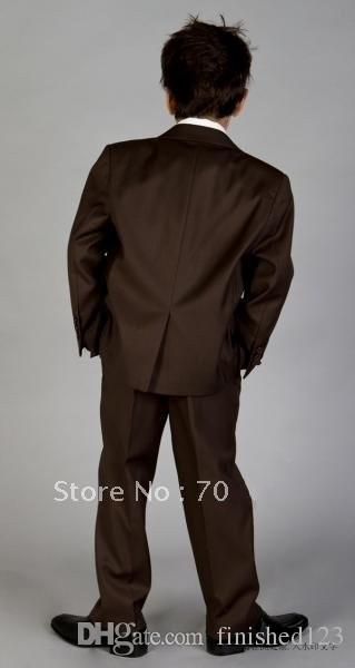 365c0136143ec Высокое качество Вернуться Vent Официальный костюм случаю Дети Смокинги  свадебны