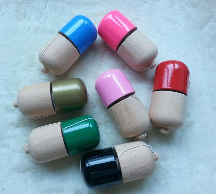 1 single hole kendama pill wood Kendama pill 11*5*5cm kendama toys Ball Toy Japanese Traditional Wood Game PU Paint for all ages