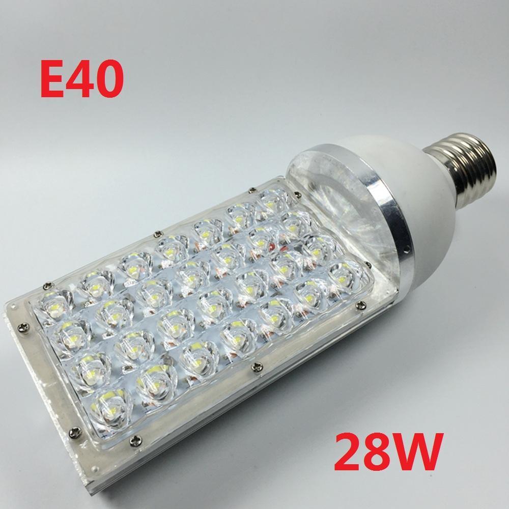 28W LED Street Lights E40 MOGUL Base Light Bulb Street Outdoor Bulb Lamp  AC85 265V Led Industrial Light Outdoor Lighting Lamps 2pcs/lot