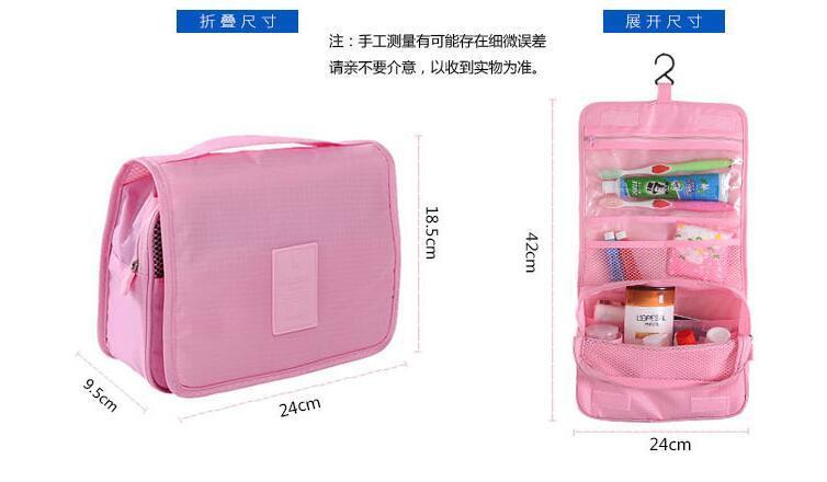 Seis Estilo de Alta Qualidade Lady MakeUp Bolsa Cosmetic Make Up Bag Embreagem Pendurado Produtos de Higiene Pessoal Kit de Viagem Organizador de Jóias Bolsa Ocasional
