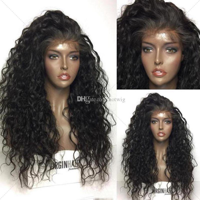 Menschenhaarperücke 150% Dichte Glueless Volle Spitze Brasilianisches Reines Haar Perücken Für Schwarze Frauen Tiefe Welle Vordere Spitzeperücken Babyhaar