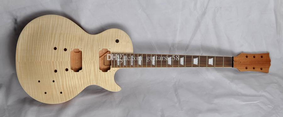 Diy Electric Guitar Kit With Mahogany Body Flamed Maple