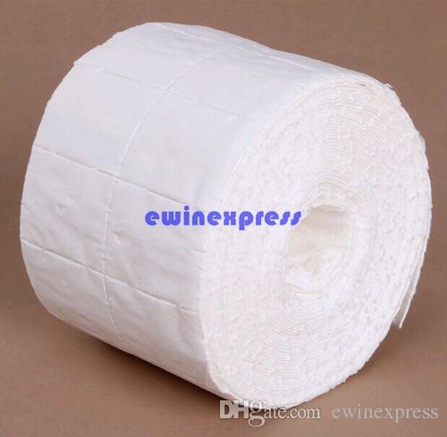 500 adet Rulo Lint Freeship Nail Art Mendil Kağıt Pad Jel Akrilik İpuçları Cila Sökücü Temizleyici