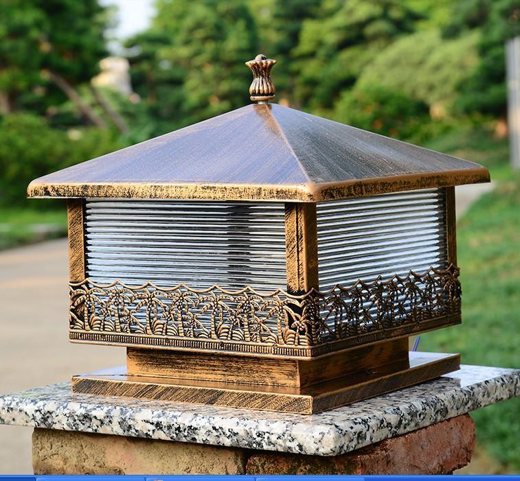 Continental Kolom Koplampen Buitenverlichting Waterdichte Gazon Lamp Deur Ommuurde Courtyard Tuinzicht Villa Postlichten 30cm * 30cm