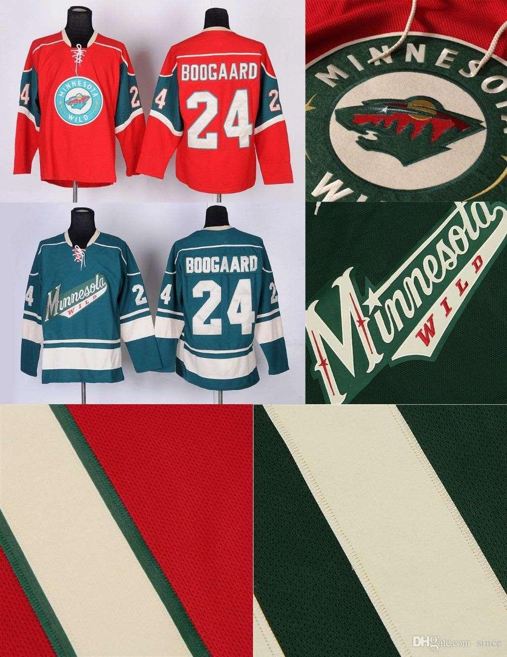 best website ff7f4 41d6f 2016 New, Cheap Ice Hockey Jersey Men s Minnesota Wild #24 Derek Boogaard  Authentic Hockey Jersey Red/Green,NEWStitched,Embroidery Logo,