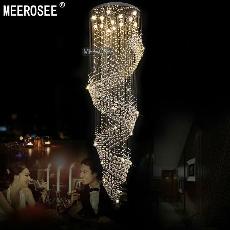 Long size crystal chandelier light fixture for lobby staircase aeproduct aloadofball Choice Image