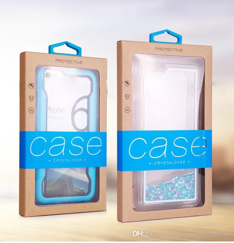 Kundenspezifisches Firmenzeichen-Kleinverpackenkasten-Karft-Papierverpackungs-Großhandelskasten für iPhone 8 XS MAX Samsung S10 für Telefon-Fall-Abdeckung
