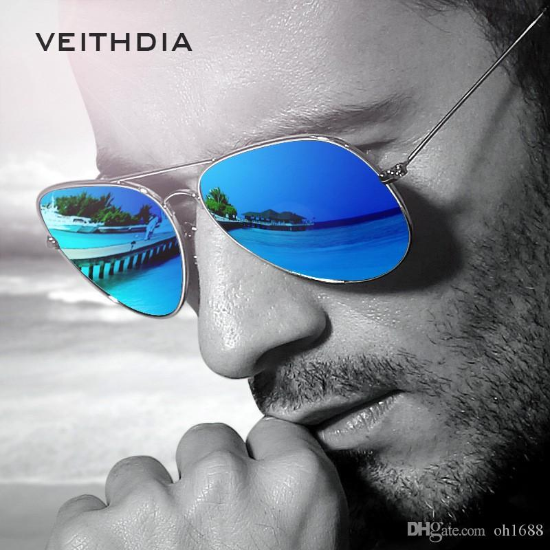 773a7b648da VEITHDIA Brand Fashion Polarized Sunglasses Men Women Colorful Reflective  Coating Lens Eyewear And Accessories Sun Glasses 3026 Sunglasses At Night  ...