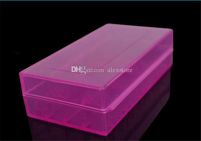 Przenośna plastikowa skrzynka na baterii Pole uchwyt bezpieczeństwa Pojemnik do przechowywania 5 kolorów Pack baterie dla 2 * 18650 lub 4 * 18350 Litowo bateria jonowa E CIG