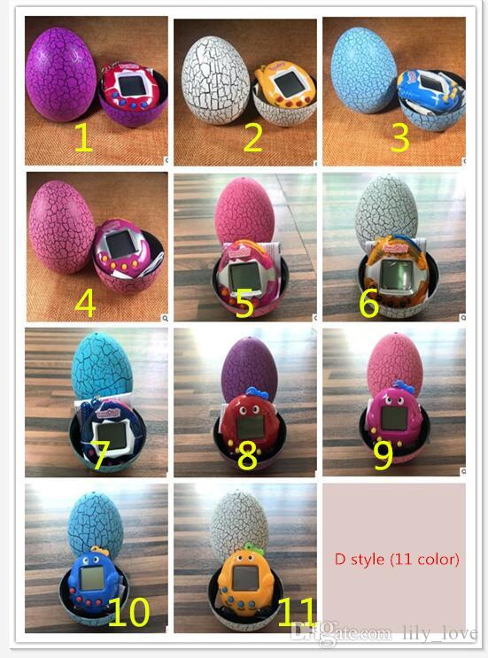 DHL 50PCS 10 style New Retro Game Toys Pets In One Funny Toys Vintage Virtual Pet Cyber Toy Tamagotchi Digital Pet Child Game Kids