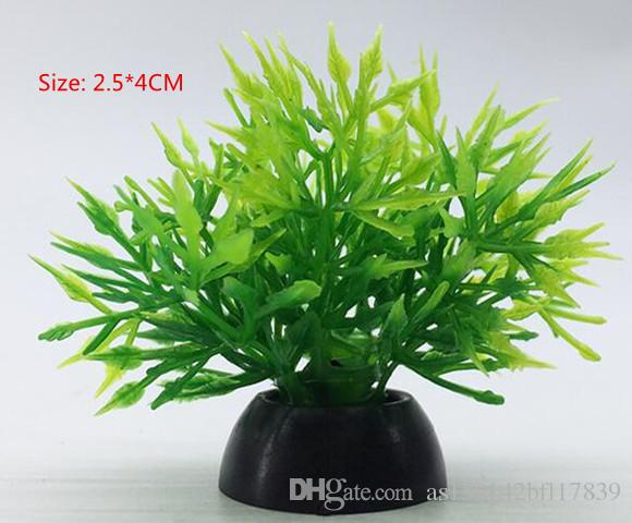 2.5*4cm Mini Small water grass Aquarium Plastic Plant Colorful Plastic Plants Artificial Water Plants Ornament Decorative Plant