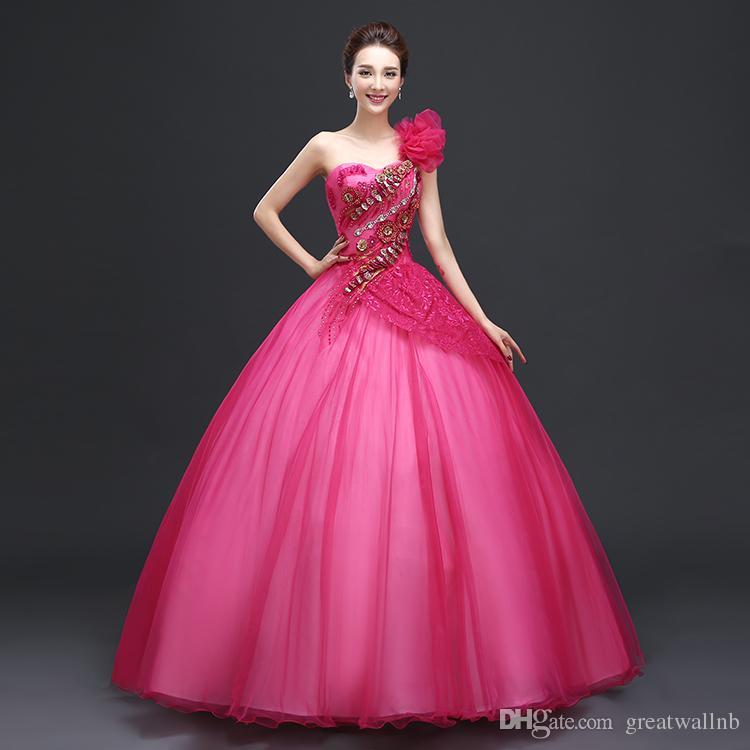 Compre Freeship Rosa Carnaval Vestido De Fiesta Medieval ...