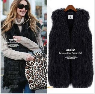 2017 Best Selling New Lady Faux Fur Vest Winter Warm Coat Outwear ...