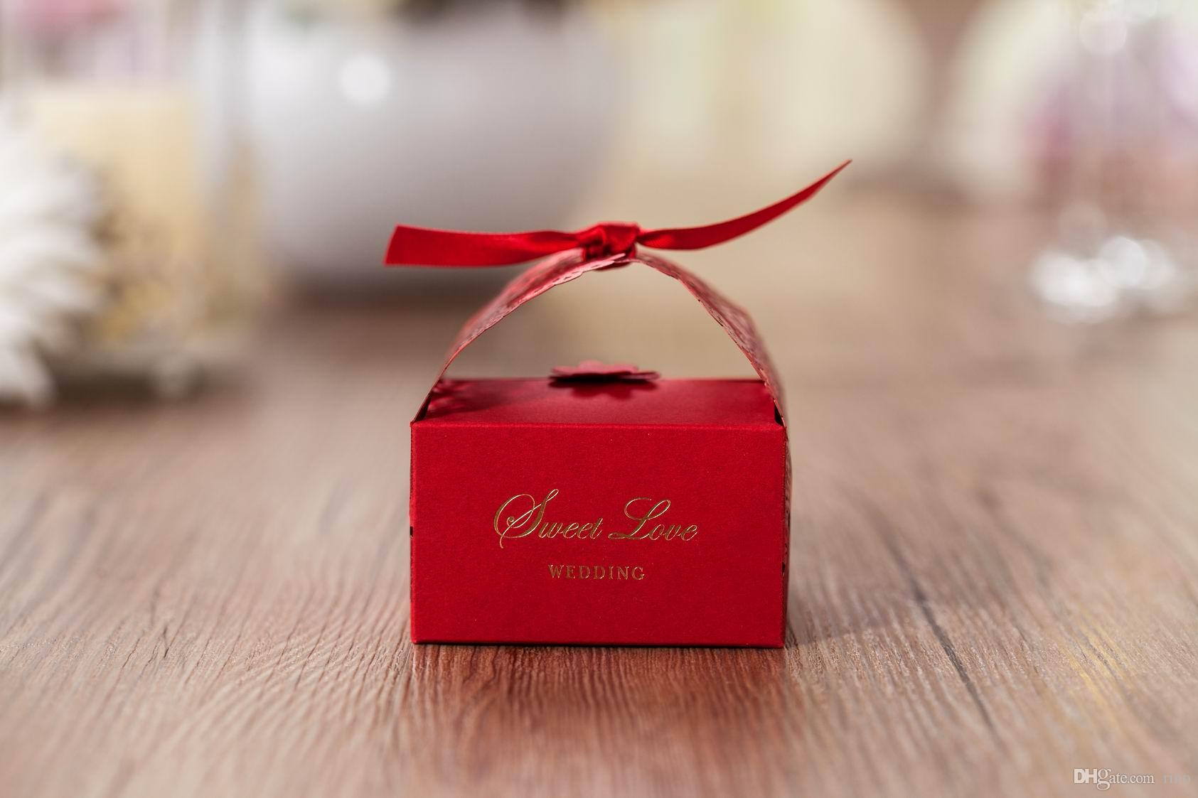 Favores de la boda Cajas de regalo Caja de dulces Favores de fiesta Hueco de la boda Caja de dulces Favor de Cajas de chocolate Bolsas de dulces cajas de pastel