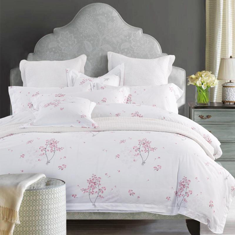 100% Cotton Luxury Hotel Bedding Sets With Simple Print Twin Queen King  Size Double Bed Linen Duvet Cover Set Cherry Blossoms Cheap Bedding Sheets  Shop ...
