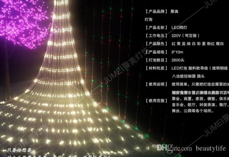 Netto Weihnachtsbeleuchtung.Großhandel 10 8meters Großen Netto Leuchten Led Weihnachtsbeleuchtung Netto Licht Vorhang Licht Blitz Lampen Festival Weihnachtsbeleuchtung Von