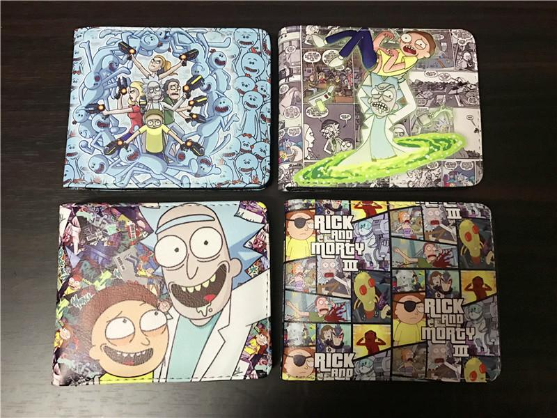 wholesale cartoon wallets movie Rick and Morty wallet card holder with cion zipper pocket chi's sweet home children purse