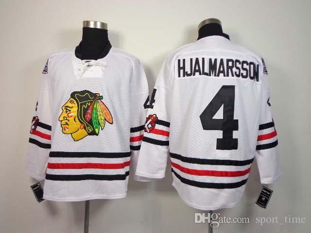 2018 Mens Blackhawks #4 Niklas Hjalmarsson White 2015 Winter Classic  Premier Player Hockey Jerseys High Quality Cheap Chicago Jerseys Hot Sale  From ...