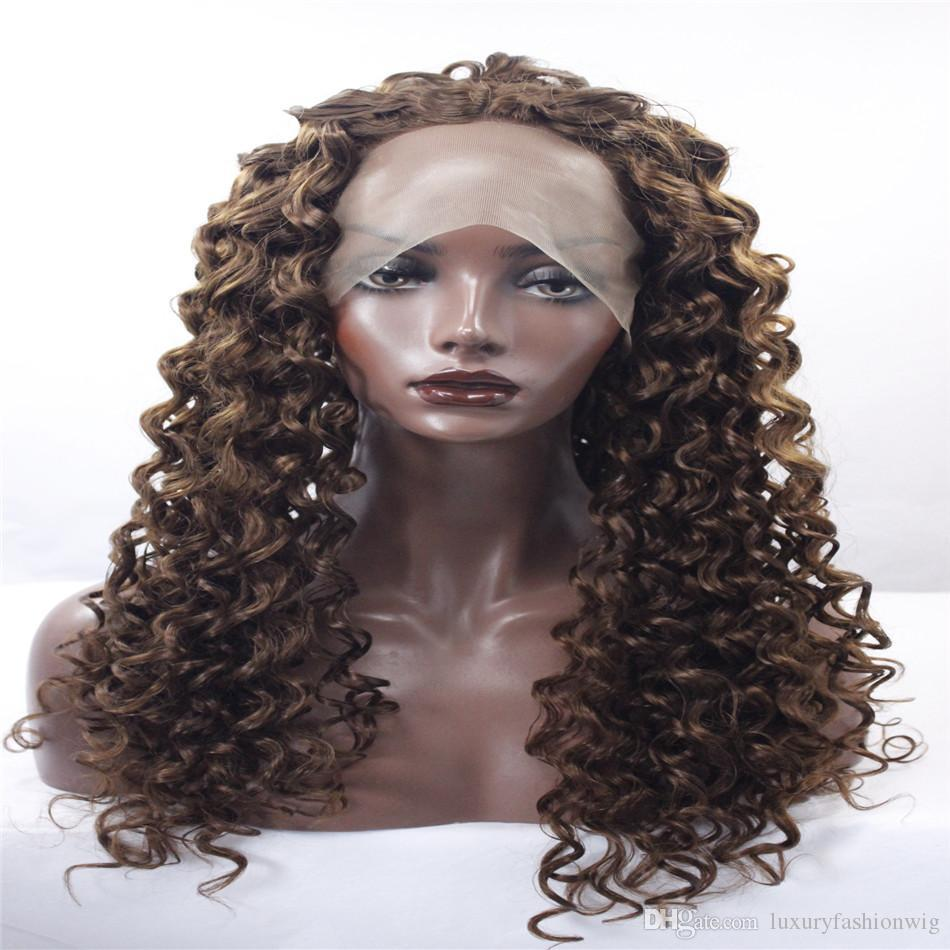 Kabell Fashion Wigs Lace Front Wigs Ladies Long Rolls Of Brown + Golden  Hair Fashion Lace Front Wigs African American Fashion Wig Wigs For White  Women Lace ... cacf3ac942cc