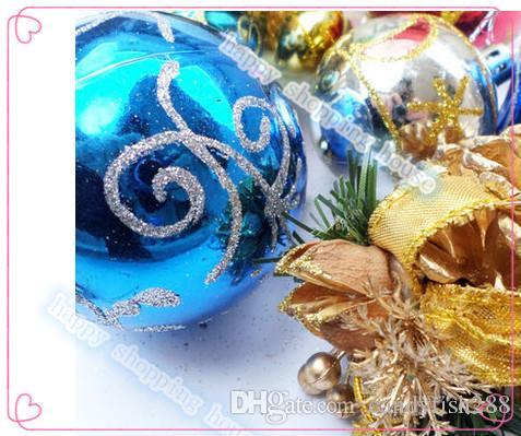 Olay Parti Malzemeleri Yılbaşı ağacı dekorasyon malzemeleri bir sürü Noel topu çanta küçük kolye asılı paketleri