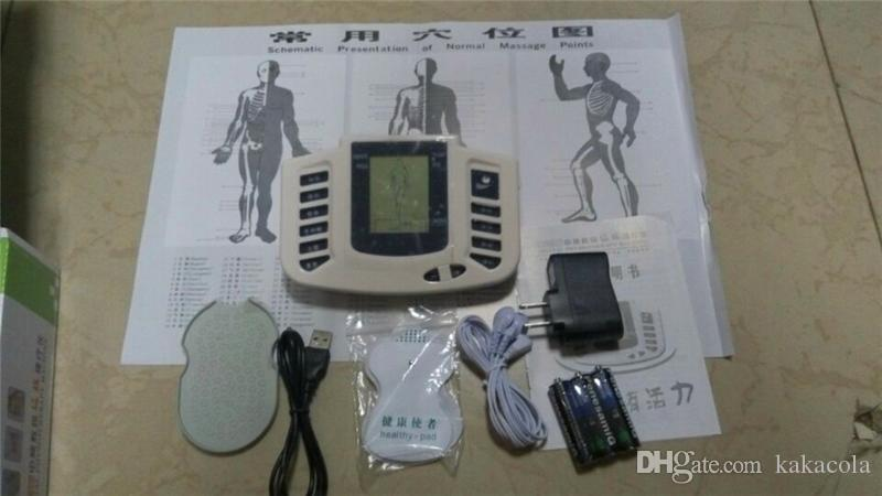 Heißer Verkauf Ganzkörper-Massagegerät JR309 Elektrischer Stimulator Ganzkörper entspannen Muskel-Therapie-Massagegerät Electro Puls TENS Akupunktur + 4 Pads