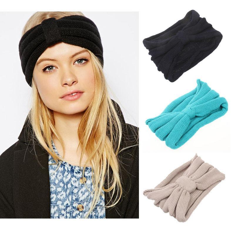 Großhandel Neue Damenmode Wolle Buttons Häkelarbeit Stirnband ...