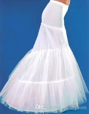 2018 Hot Mermaid Wedding Petticoats Hoops Tromba Sottotute Abiti da sposa Prom Slip Sottoveste Plus Size Crinoline Sottoveste