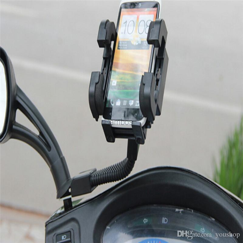 360 Degree Rotation Motorcycle Phone Holder Stand Cradle for Mobile Phone PDA GPS MP4 for iphone 6 / 6 Plus for Samsung