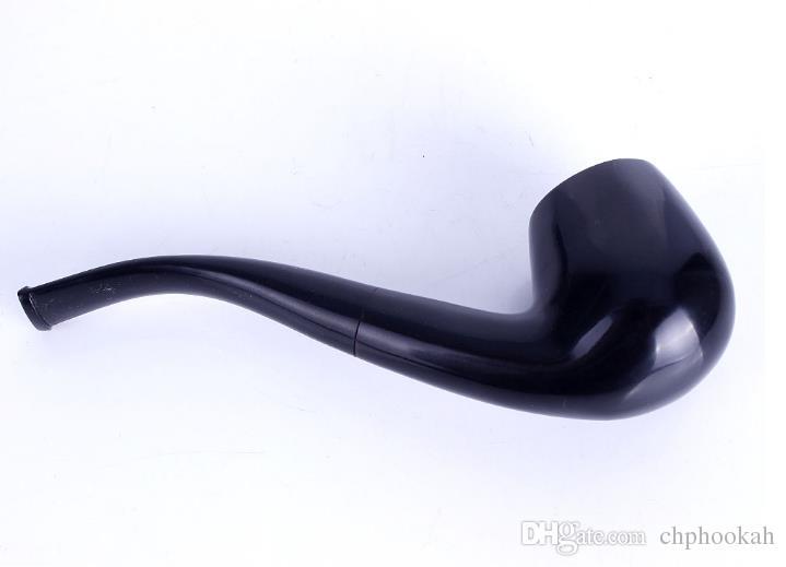 Erkekler Abanoz Tütün Boru Gaga Çekiç Ana Filtre Boru Ağız Ayrılabilir Ahşap Büyük Sigara