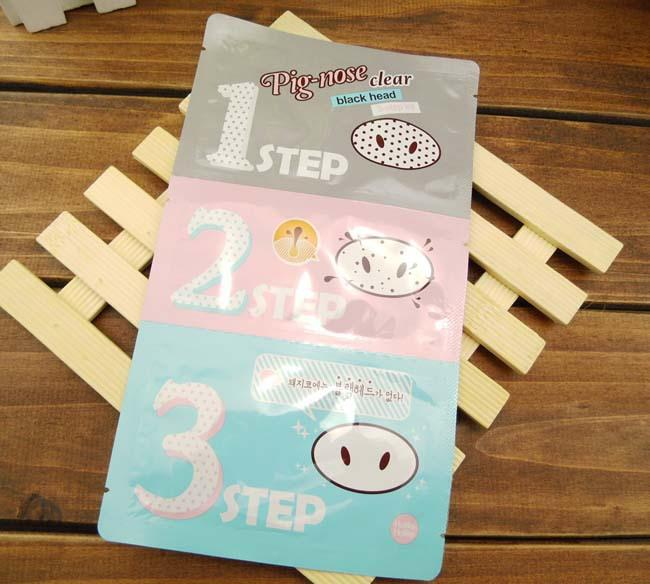 Holika Pig Nose Clear Black Head Perfect Sticker 3 steps Clear Black Head Mask Blackhead Remover