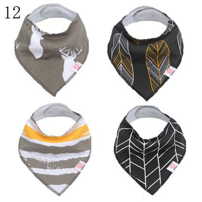 2019 kids clothes Baby Supplies saliva towel cotton bib 4 baby bib double-breasted towel
