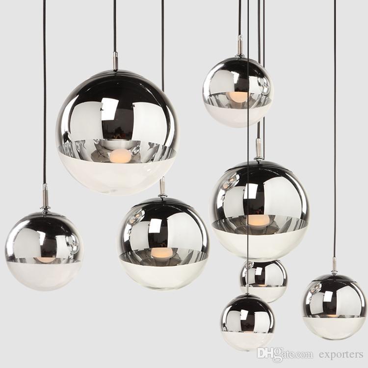 Tom Dixon Mirror Ball Pendant Lamp Electroplating Droplht Led Light