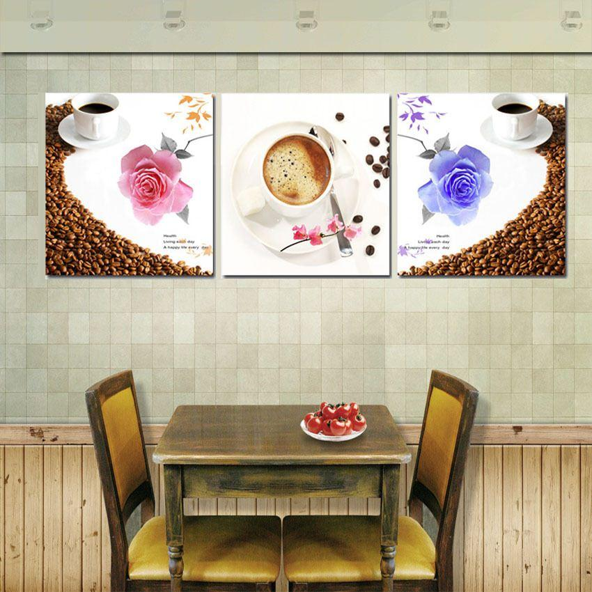 see larger image - Painted Wood Cafe Decoration