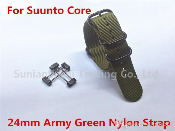 bba1b0d6183 New for suunto core watch band army green tactical nylon zulu jpg 700x523 Band  24mm