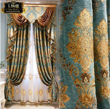 2018 San Marino European Luxury Gold Chenille Jacquard Bedroom