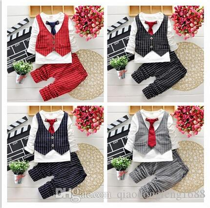 2016 Fashion Baby Boy Clothes Sets Gentleman Suit Toddler Boys ...