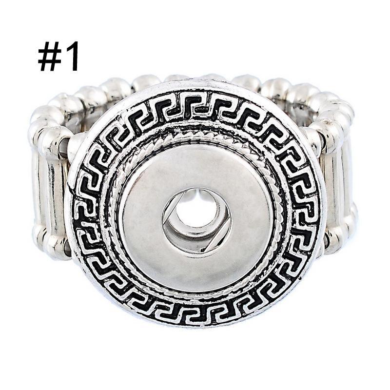 Ювелирные изделия DIY Noosa на свободный стиль мода эластичные веревочка стиль DIY кусок Snap кнопки ювелирные изделия Кольца кусок Snap кнопки D553L