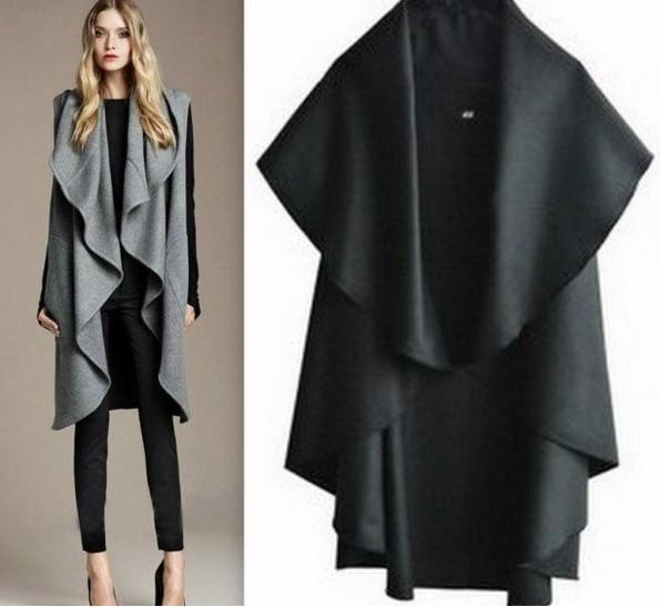 2018 Women'S Fashion Woolen Vest Coat Hot Design Trench Coat ...