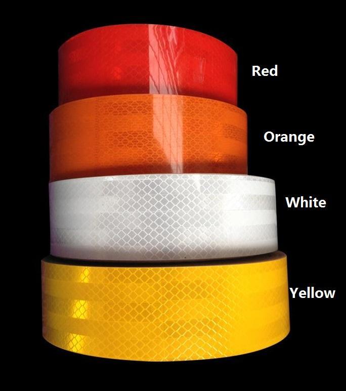 5cm * 20m 높은 가시성 트럭 자동차 오토바이 반 트래픽 신호 반사 스티커 테이프 흰색과 빨간색 반사 경고 테이프