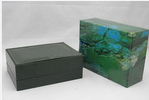 Fornitore di fabbrica Verde di lusso con scatola originale scatola di orologi in legno Carta Carta Portafoglio Boxes Box Box da polso