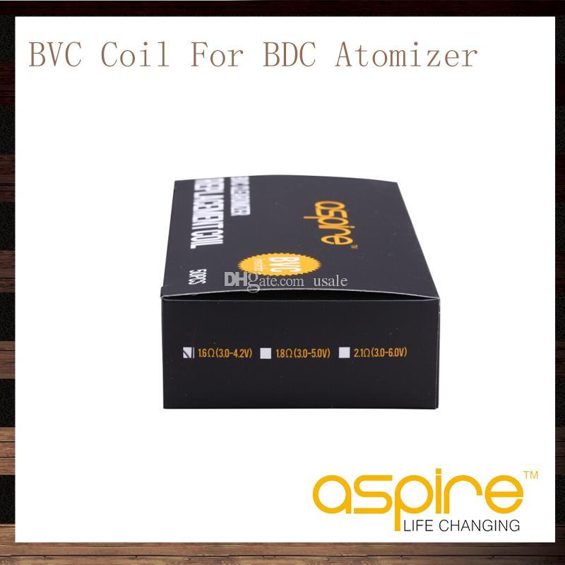 Têtes de bobines Aspire BVC pour atomiseurs Aspire BDC CE5 CE5S ET ETS Bobines de rechange Vivi Nova Mini Vivi Nova BDC 1,6 1,8 2,1 ohms