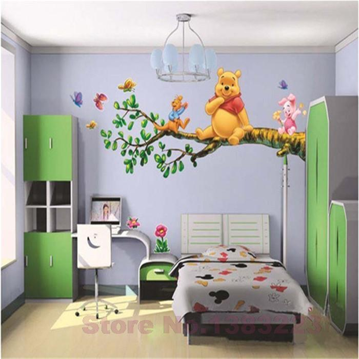 Animal Cartoon Winnie Pooh Vinyl Wall Stickers For Kids Rooms Boys Girl Home Decor Wall Decals Home Decoration Wallpaper Kids Wall Sticker Deal Wall Sticker ... & Animal Cartoon Winnie Pooh Vinyl Wall Stickers For Kids Rooms Boys ...