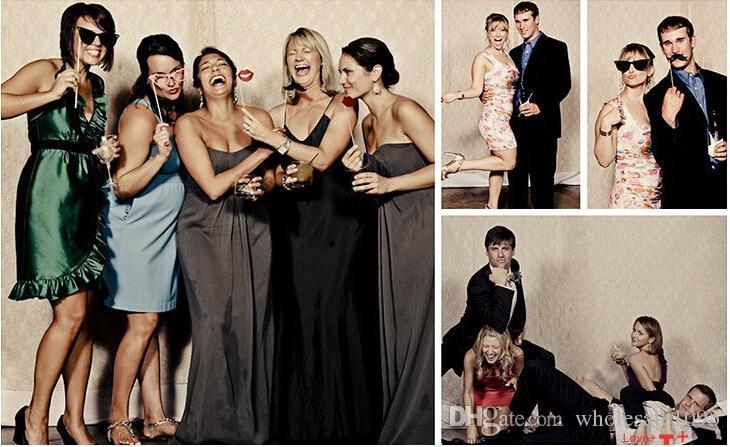 Kreative Hochzeit Bilder Requisiten Lustige Produkt 58 teile / satz DIY Photo Booth Props Schnurrbärte Auf Einem Stock Halloween Party Qualität Erste YH016