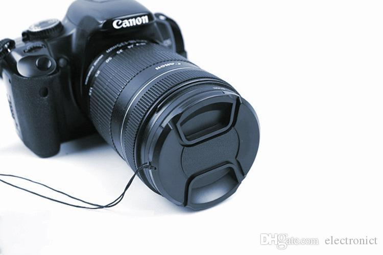 Camera Lens Cap Protection Cover 49mm/52mm/55mm/58mm/62mm/67mm/72mm/77mm/ With Anti-lost Rope For Nikon Canon