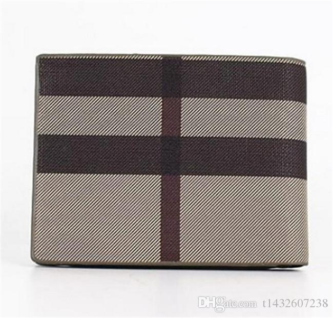 New designer handbags Vintage PU Mens Wallets Fine Bifold Brown Black PU Leather Credit Card Cool tri fold Wallet for men Free Delivery
