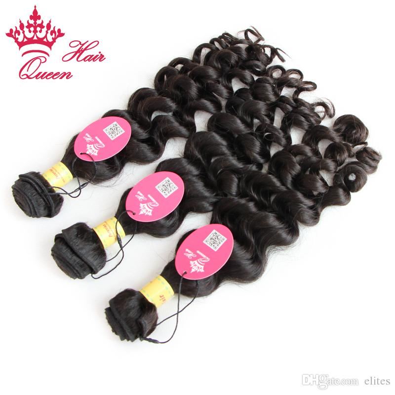 Queen Hair Official Store 100% Virgin Onverwerkte Peruaanse Menselijk Haar Weave Golvend Peruviaans Maagd Haar More Wave 1 stks