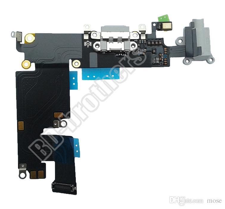 100% ursprünglicher Ladedock-Verbindungsstück-Ladegerät-Hafen-Flexkabel mit Audiokopfhörer-Jack für 4.7inch iPhone6 G / 5.5 Zoll iPhone 6 Plus