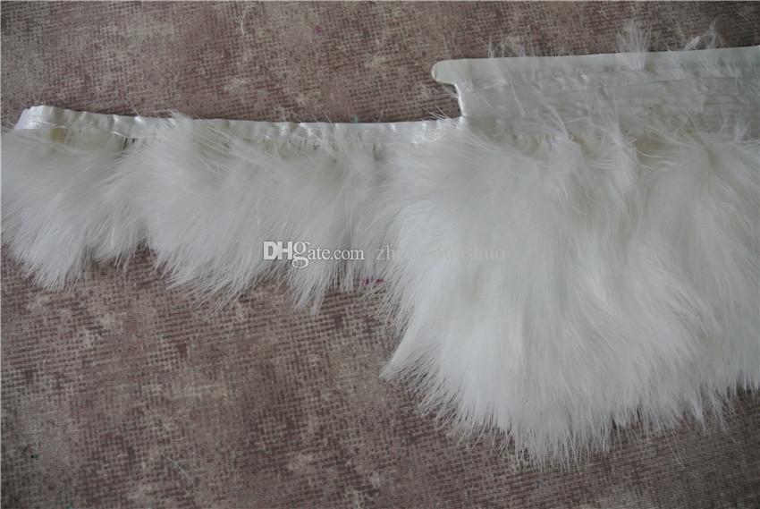 شحن مجاني 10 ياردة / الكثير سعن الأبيض تركيا ريشة تريم هامش 3-4 بوصة واسعة ل الحرف لوازم الزفاف