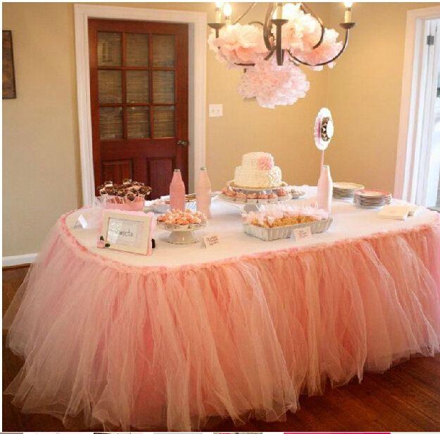 2017 Cheap Wedding Tulle Table Skirt 100 Cm 80 Cm